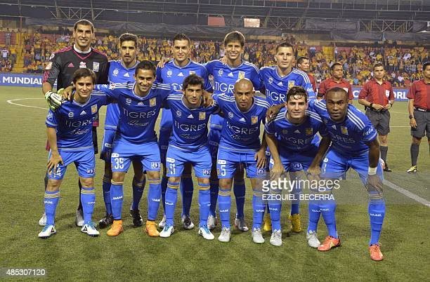 Mexico Tiger team members pose for a photo before the Concacaf Champions League football match against Club Sport Herediano on the Concacaf Champions...