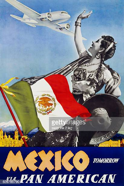 Mexico Tomorrow via Pan American Poster