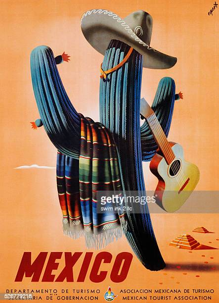 Mexico Travel Advertisement Poster by Espert