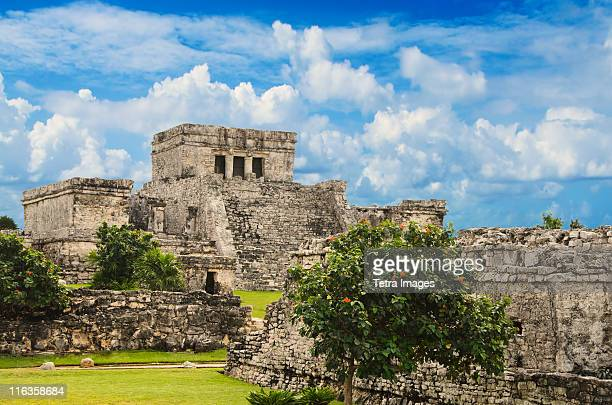 mexico, tulum, ancient ruins - old ruin stock pictures, royalty-free photos & images
