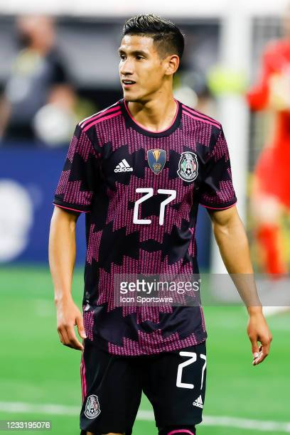 Mexico Uriel Antuna in action during the game between Mexico and Iceland on May 29, 2021 at AT&T Stadium in Arlington, Texas.