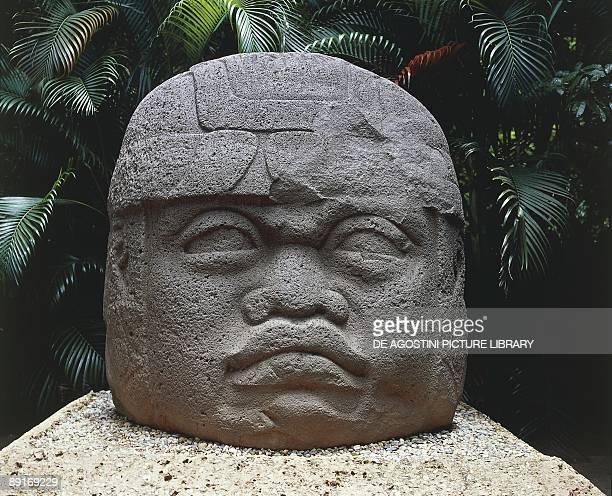 Mexico villahermosa tabasco Olmec art Colossal stone head of a warrior