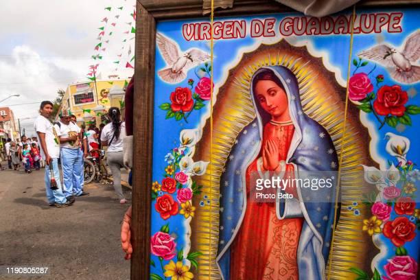 méxico - virgen de guadalupe - peregrinos - mérida - virgen de guadalupe - guadalupanos - virgen de guadalupe fotografías e imágenes de stock