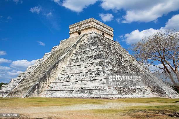 Mexico Yucatan Chichen Itza El Castillo Pyramid of Kukulkan