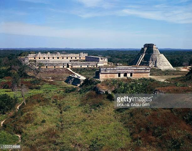 Mexico Yucatan Mayan archeological site of Uxmal The ruins of the ancient capital of Xiu