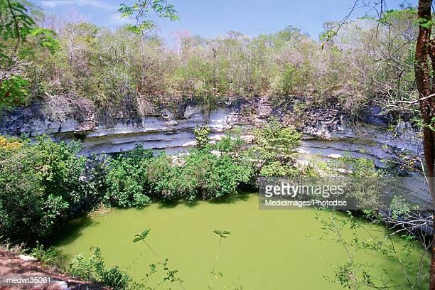 Mexico, Yucatan, Peninsula, Chichen Itza, Mayan ruins, Sacred Cenote Well