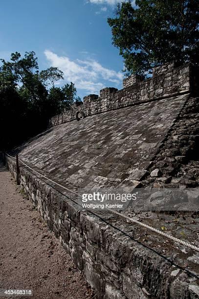 Mexico Yucatan Peninsula Near Cancun Maya Ruins Of Coba Ball Court