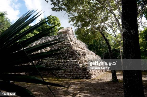 Mexico Yucatan Peninsula Near Cancun Maya Ruins Of Coba Temple Of The Paintings