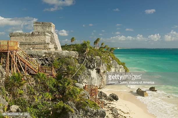 Mexico, Yucatan Peninsula, Quintana Roo, Mayan Tulum Ruins