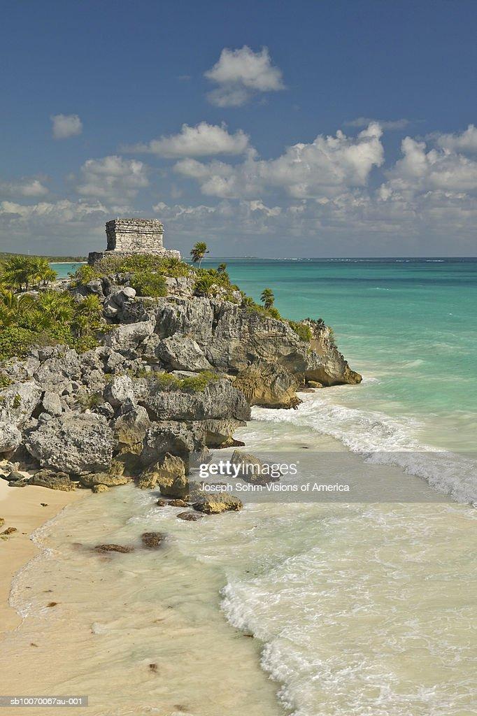 Mexico, Yucatan Peninsula, Quintana Roo, Mayan Tulum Ruins : ストックフォト