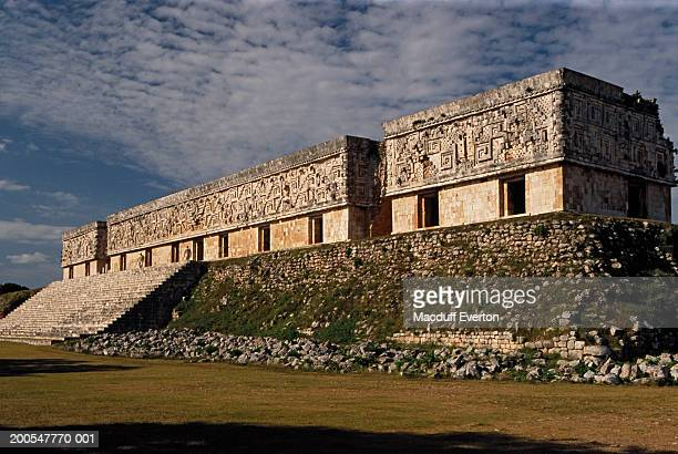 Mexico, Yucatan, Uxmal, Governor's Palace at dawn