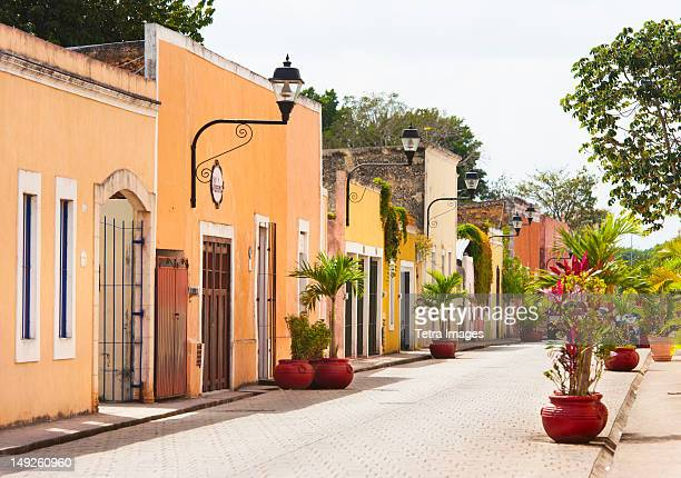 mexico, yucatan, valladolid, street - yucatan stock pictures, royalty-free photos & images