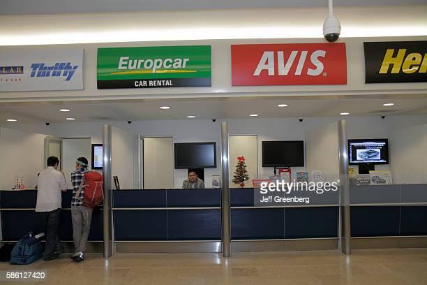 Mexico Yucat‡n Peninsula Quintana Roo Cancun Cancun International Airport rental car counter