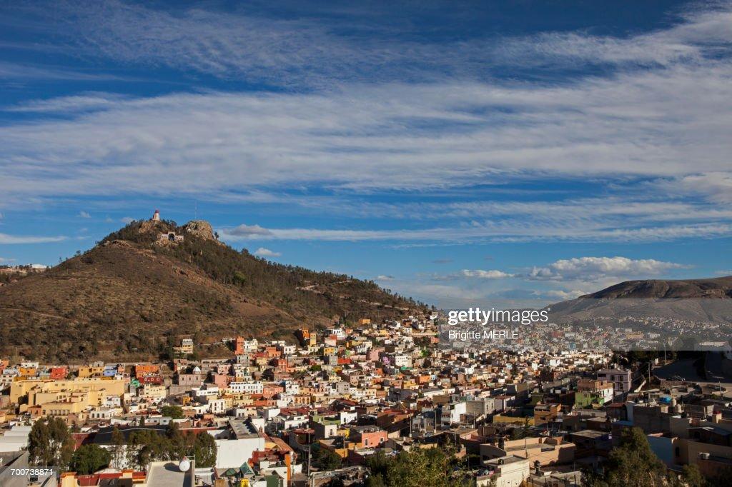 Mexico, Zacatecas state, Zacatecas, Cerro de la Bufa and General view of Zacatecas, Unesco World Heritage : Stock Photo