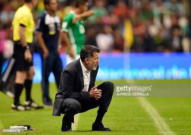 Mexico's coach Juan Carlos Osorio is pictured during the Russia 2018 World Cup football qualifier match against Honduras in Mexico City on September...