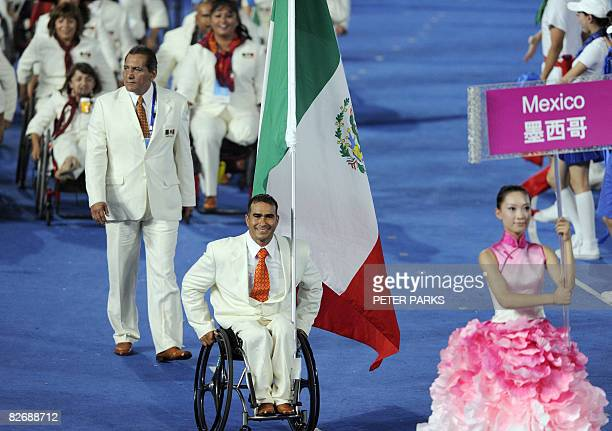 Mexico's delegation parade during the 2008 Beijing Paralympic Games opening ceremony at the National Stadium better known as the Bird's Nest in...