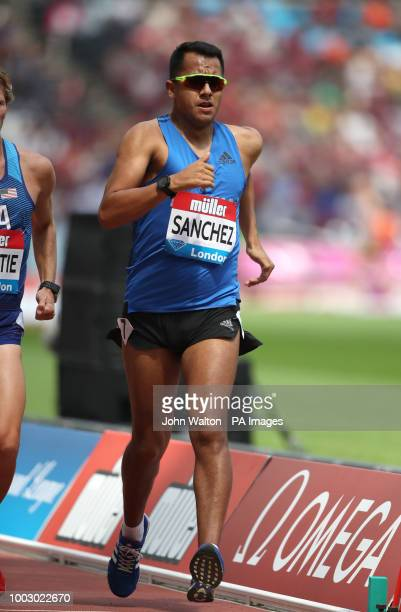 Mexico's Eder Sanchez in action during The Men's 3000m walk during day one of the Muller Anniversary Games at The Queen Elizabeth Stadium London