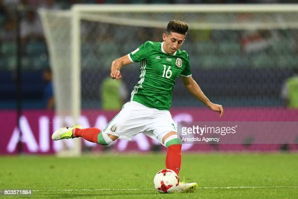 Mexico's Hector Herrera in action during match the FIFA Confederations Cup 2017 between Germany and Mexico in Sochi Russia on June 29 2017