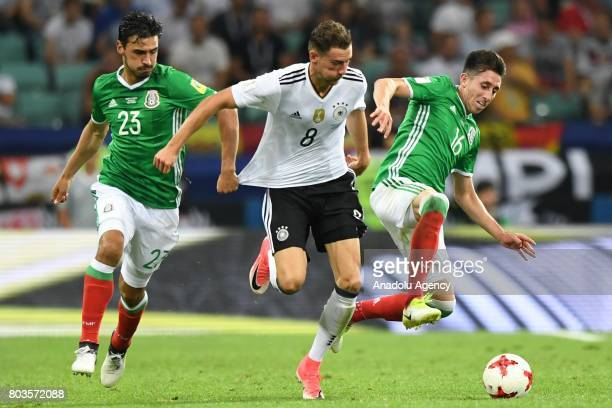 Mexico's Hector Herrera Oswaldo Alanis and Germany Leon Goretzka during match the FIFA Confederations Cup 2017 between Germany and Mexico in Sochi...