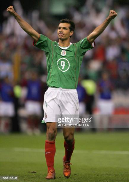 Mexicos Jared Borgetti Celebrate His Goal Against Panama In Their Fifa World Cup Germany 2006 Qualifying