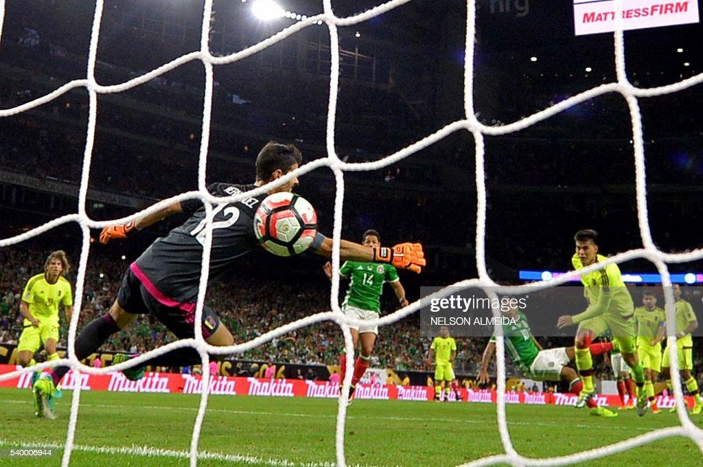 2504ef48e Mexico s Jesus Manuel Corona scores against Venezuela during their ...