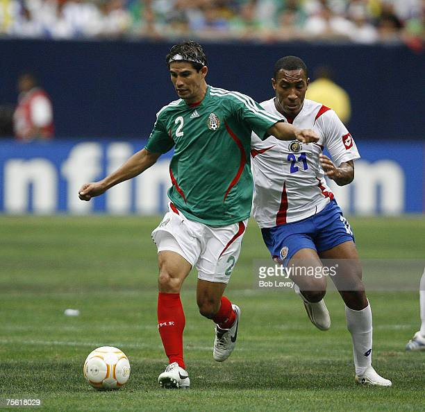 Mexico's Jose Jonny Magallon Mexico defeated Costa Rica 10 in overtime in quarter final action at the CONCACAF 2007 Gold Cup at Reliant Stadium June...