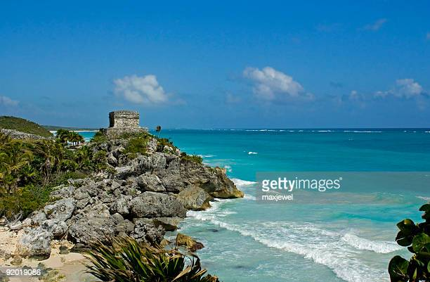 mexico's mayan shores - tulum - playa del carmen stock pictures, royalty-free photos & images
