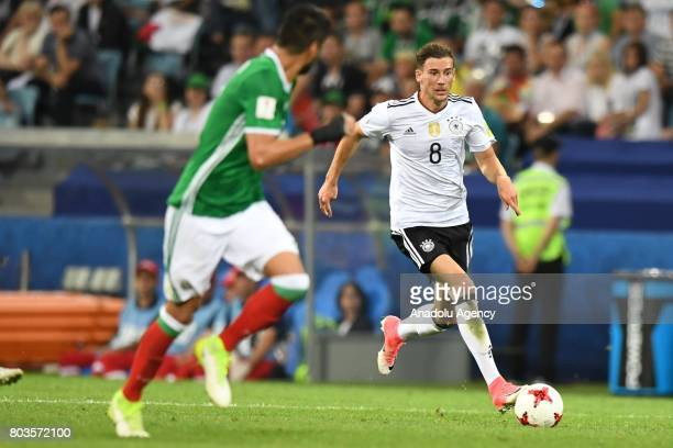 Mexico's Nestor Araujo and Germany's Leon Goretzka during match the FIFA Confederations Cup 2017 between Germany and Mexico in Sochi Russia on June...