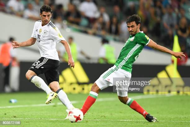 Mexico's Oswaldo Alanis and Germany's Lars Stindl during match the FIFA Confederations Cup 2017 between Germany and Mexico in Sochi Russia on June 29...