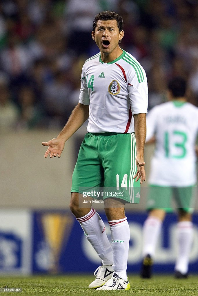 Mexico's player Miguel Sabah shouts during the 2009 CONCACAF Gold Cup match against Costa Rica at the Soldier Field Stadium on July 23, 2009 in Chicago, Illinois.