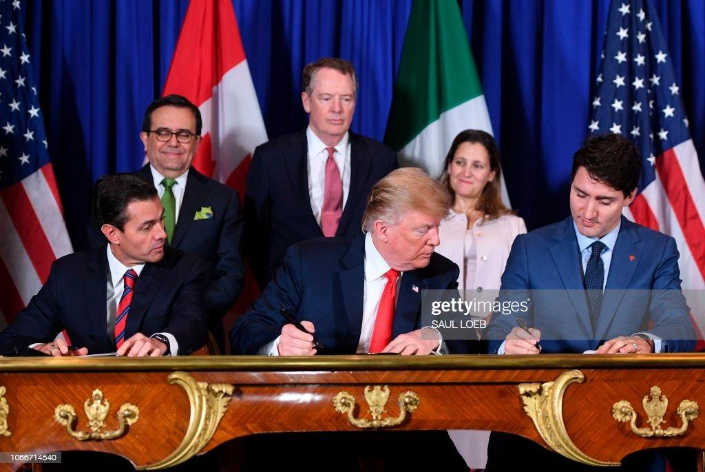 ARGENTINA-G20-SUMMIT-US-CANADA-MEXICO-USMCA : News Photo