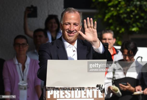 Mexico's presidential candidate Jose Antonio Meade for 'Todos por Mexico' coalition party casts his vote during general elections in Mexico City on...