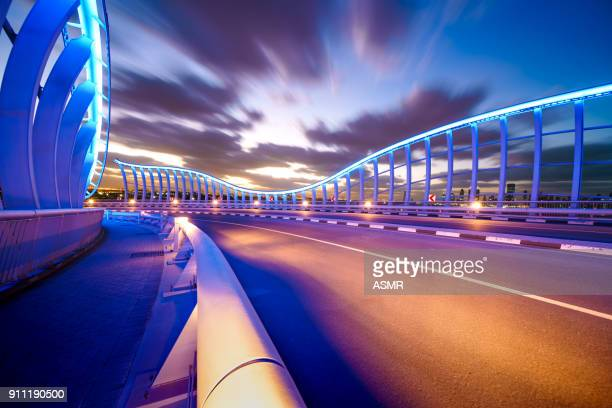Meydan Bridge Dubai at Night