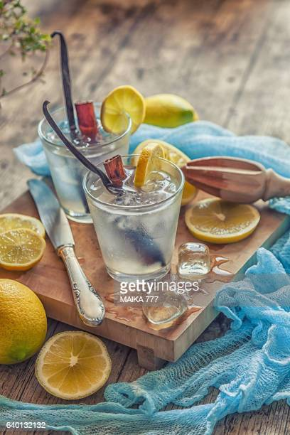 Meyer lemon vanilla spice winter lemonade