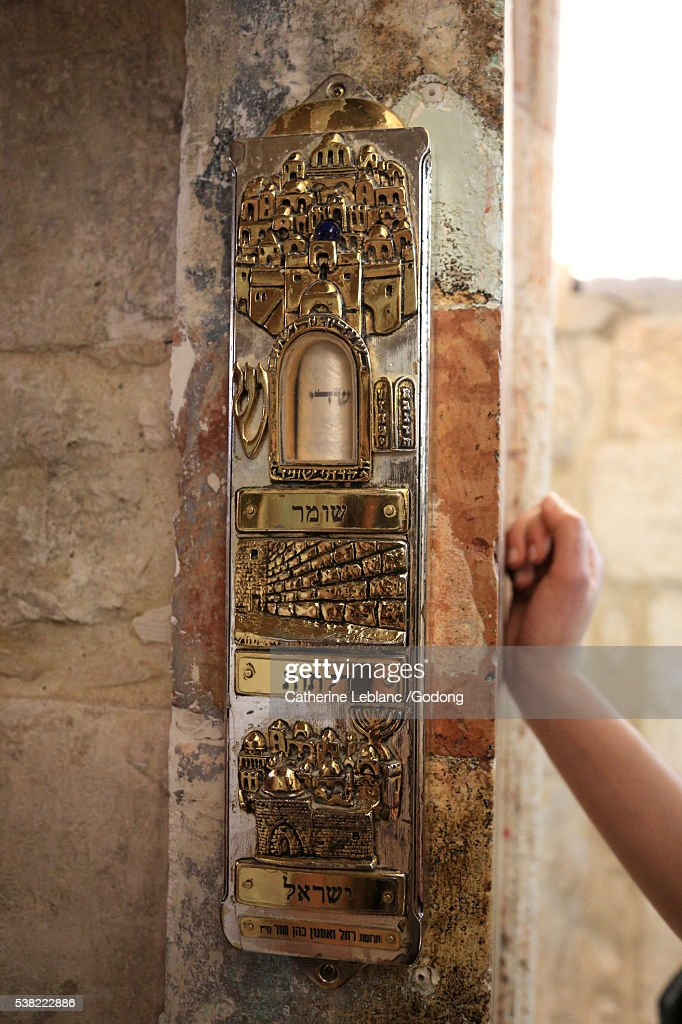 Mezuzah fixed to a door frame. & Mezuzah Stock Photos and Pictures | Getty Images