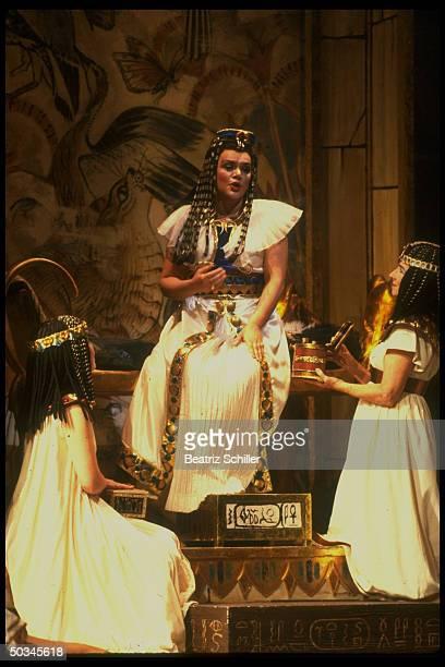 Mezzo soprano Delora Zajick as Amneris in Verdi's Aida on stage at the Metropolitan Opera