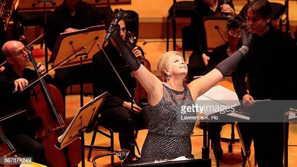 LOS ANGELES CA NOV 06 2014 Mezzo Susan Graham performing Kurt Weill's songs with EsaPekka Salonen conducting the LA Phil at Walt Disney Concert Hall...