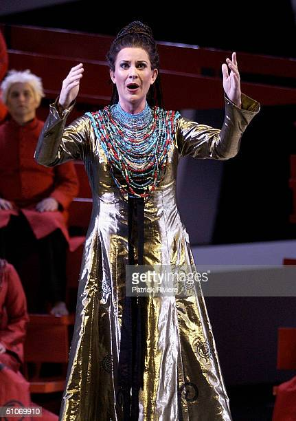 Mezzosoprano Deborah Humble during the final dress rehearsal of Henry Purcell's Baroque masterpiece Dido and Aeneas at the Opera House July 14 2004...