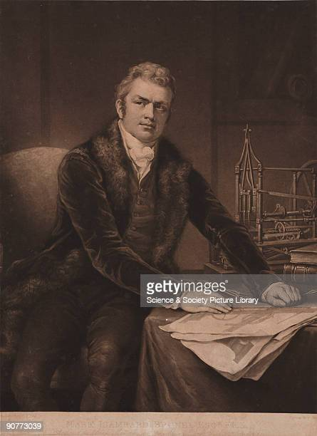 Mezzotint by C Turner after J Northcote of Sir Marc Isambard Brunel who travelled to America where he lived for six years and worked as a land...