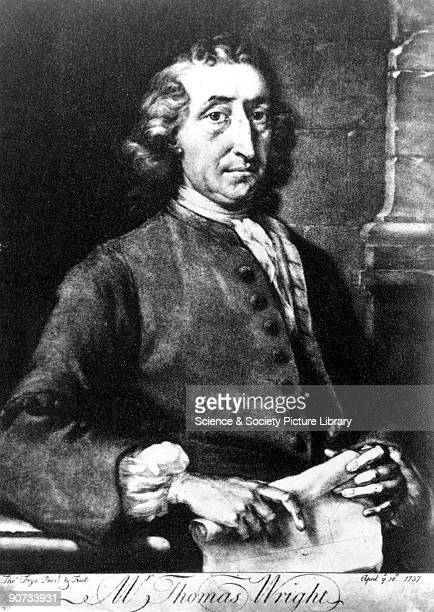 Mezzotint by Thomas Frye 1737 of Thomas Wright Orginally an astronomer Wright also become famous as an architect artist and garden designer