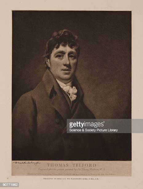 Mezzotint engraving by Henry MacbethRaeburn c1935 after an original painting by Sir Henry Raeburn c 1800 Thomas Telford was responsible for some of...