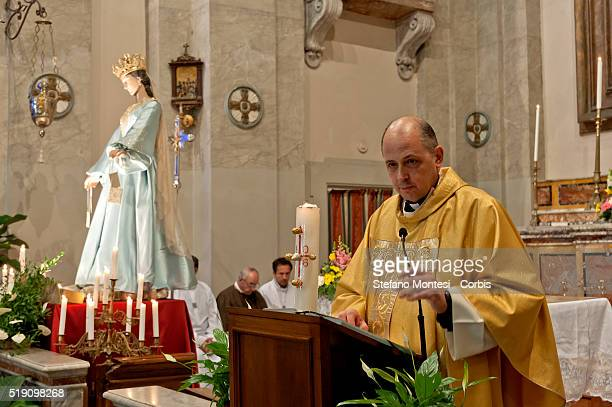 Mgr Antonio Interguglielmi diocesan responsible for the Brotherhoods during the solemn celebration in the church of Sant'Agata in Trastevere for the...