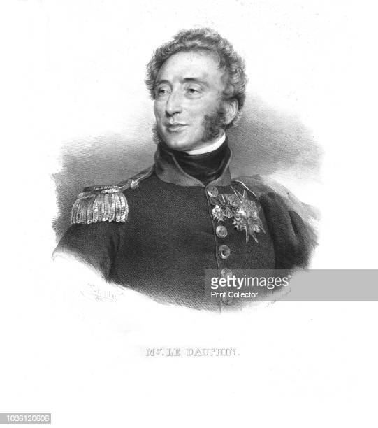 Mgr. Le Dauphin', Louis-Antoine, Duke of Angouleme, circa 1820s. Louis-Antoine d'Artois , was awarded the blue cord and the Cross of the Order of the...