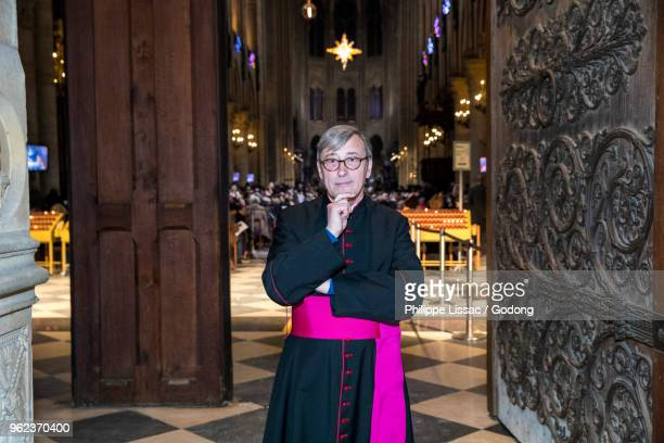 Mgr Patrick Chauvet, rector of Notre Dame cathedral, Paris, France.