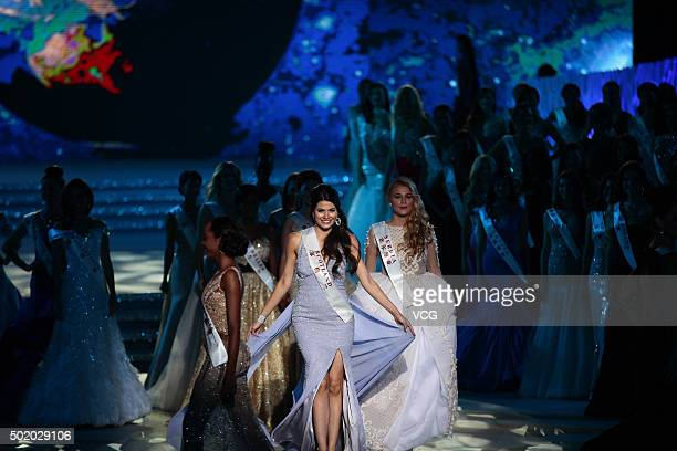 Mhairi Fergusson of Scotland performs onstage during the Miss World Grand Final on December 19 2015 in Sanya Hainan Province of China