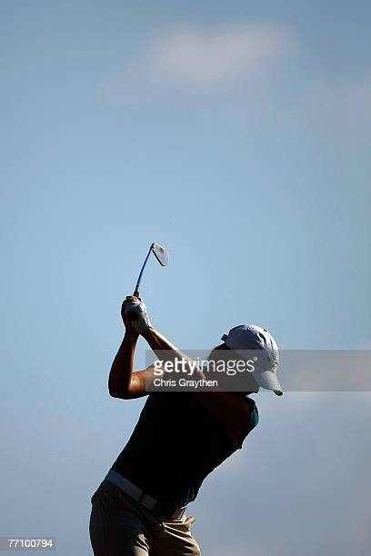 Mhairi McKay tees off on the 13th hole during the second round of the Navistar LPGA Classic at Robert Trent Jones Golf Trail at Capitol Hill on...