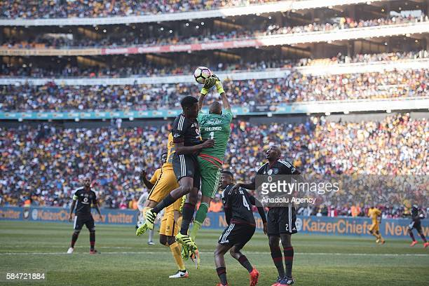 Mhlongo Brighton of Orlando Pirates in action during 2016 Carling Black Label Cup between Kaizer Chiefs FC and Orlando Pirates at FNB Stadium in...