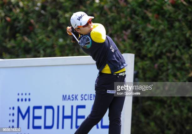 Mi Hyang Lee of Korea during the final round of the Mediheal Championship on April 29 2018 at Lake Merced Golf Club in San FranciscoCA