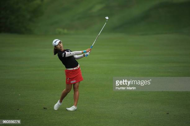 Mi Hyang Lee of South Korea on the fourth hole during the first round of the Kingsmill Championship presented by Geico on the River Course at...