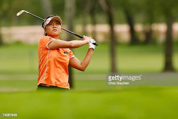 Mi Hyun Kim of South Korea makes a shot from the fairway on the 17th hole during the final round of the SemGroup Championship presented by John Q...